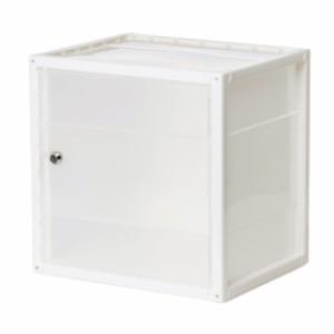 プラスチックロッカー PP樹脂製 鍵付き ホワイト [100-LBOX005C]