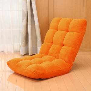 【送料無料】 ふわふわもこもこ座椅子 マイクロファイバー生地 & 低反発クッション 42段 リクライニング座椅子 [100-SNC041]