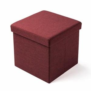 折りたたみ 収納スツール ファブリック張地 椅子 収納ボックス オットマン 耐荷重100kg [150-SNCBOX6]