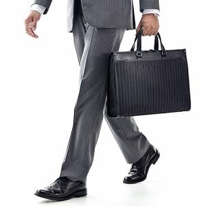 【送料無料】ストライプ柄 ビジネスバッグ A4書類 15.6インチ ノートPC収納 リクルートバッグ 通勤 就活[200-BAG067]