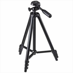 アルミ三脚 4段伸縮 耐荷重1.5kg 小型一眼レフ ミラーレス一眼 ビデオカメラ カメラ三脚 [200-CAM021N]
