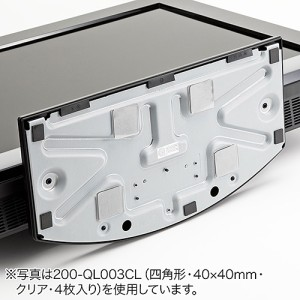 耐震マット 65×65mm 正方形 1枚入り 耐震ジェル テレビ パソコン 耐震度7 耐荷重40kg ブルー クリア [200-QL005]