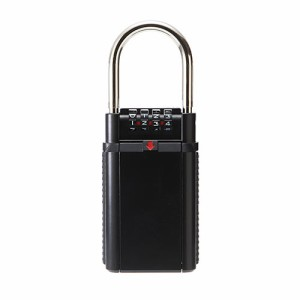 鍵収納BOX ダイヤル錠 玄関 保管 受け渡し 大型サイズ セキュリティ キーボックス [200-SL027BK]