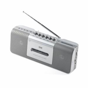 ワイドFM対応 ラジカセ USBメモリー MP3再生 AC電源 乾電池 ラジオカセットプレーヤー[400-MEDI027]【送料無料】