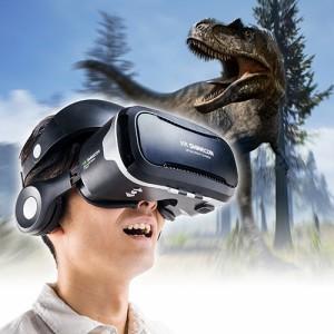 【送料無料】ヘッドホン一体型 VRゴーグル 4〜6インチ スマホ iPhone Android VR SHINECON[400-MEDIVR3N]