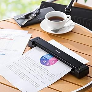 【送料無料】モバイルスキャナー L版 A4対応 PDF 1200dpi ハンディスキャナー [400-SCN022]