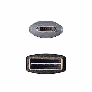 両面挿せる microUSBケーブル LED内蔵 1m Quick Charge 2.0対応[500-USB039]