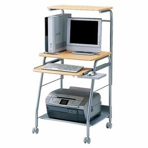 パソコンラック W60cm プリンター設置 上棚 キーボードスライダー パソコンデスク 机 [HLN-60N]【送料無料】