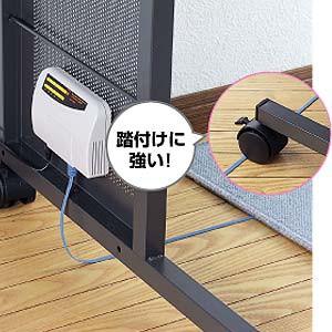 Cat6 フラット LANケーブル 5m ブラック 薄型 [KB-FL6-05BKN]