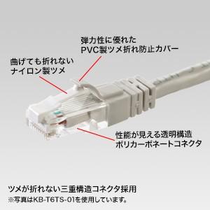 つめ折れ防止LANケーブル(Cat6・20m・ブルー)[KB-T6TS-20BL]【送料無料】
