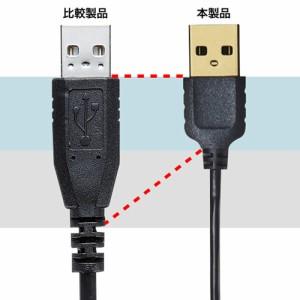 スリム microUSBケーブル 0.5m ブラック A - micro B コネクタ [KU-SLAMCB05]