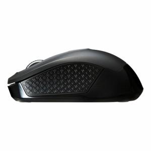 ワイヤレスマウス ブラック 中型サイズ 左右対称型 高感度 ブルーLEDセンサー[MA-WBL41BK]
