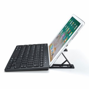 【送料無料】Bluetoothキーボード タブレットスタンド付き iOS用 英字配列[SKB-BT28BK]