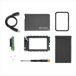 耐衝撃 ポータブルHDDケース USB3.0接続 2.5インチ SATA SSD/HDD 外付けケース StoreJet 25CK3[TS0GSJ25CK3]