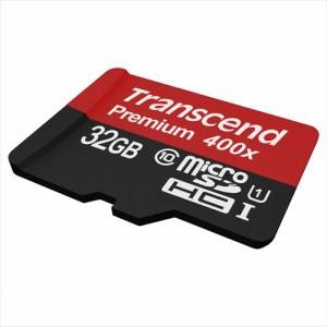 【送料無料】マイクロSDカード microSD 32GB Class10 UHS-1 400倍速 SD変換アダプタ付属 トランセンド microSDHC [TS32GUSDU1P]