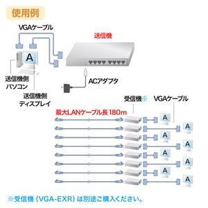 分配器 ディスプレイ延長 分配用 ディスプレイ分配エクステンダー 送信機のみ 最大180m先まで 8分配[VGA-EXL8]【送料無料】
