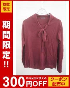 GU(ジーユー)ニット・セーター/七分袖・長袖/赤//Aランク//XS