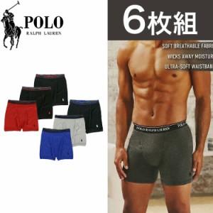 【6枚セット】ポロ・ラルフローレン ボクサーパンツ メンズ 下着 Polo Ralph Lauren ブランド アンダーウェア ブラック 無地 ロゴ USA お