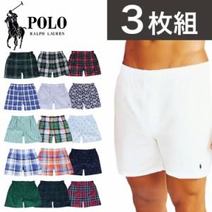 3枚組 ポロ・ラルフローレン トランクス メンズ 下着 パンツ Polo Ralph Lauren Classic Fit Packaged Woven Boxers アンダーウェア 総柄