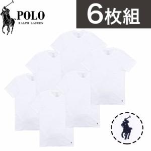 【6枚セット】ポロ・ラルフローレン Tシャツ メンズ インナー 半袖Tシャツ Polo Ralph Lauren クラシックフィットトップス ロゴ デザイン