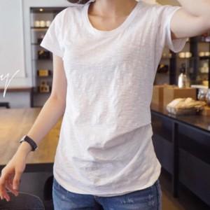 Tシャツ トップス 半袖 ドレープ おしゃれ シンプル かわいい
