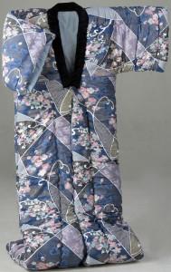 <日本製>ふっくら綿混かいまき 1枚 ブルー a1392420 あったか 着る毛布 着る布団 プレゼント 贈り物 こたつ