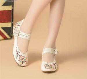 72f5d2ac8a6d9 森ガール 布素材 手作り中國靴チャイナ靴 中華刺繍 スニーカー 痛くない カジュアルシューズ