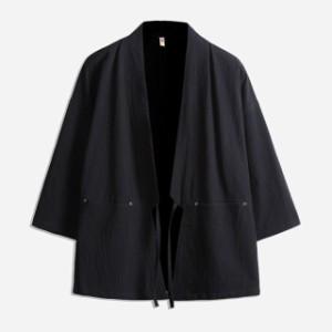 メンズ   甚平  ジャケット   アウター   和裝  部屋著     羽織  浴衣風男性 著物  復古  カジュアル
