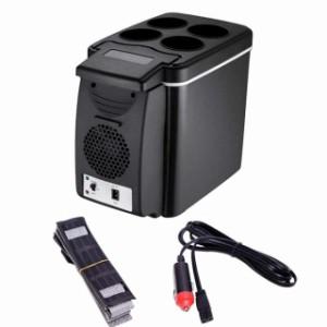 6L車載用温冷庫 ミニ車載用ポータブル冷蔵庫 車載DC12V車専用ファン付き冷蔵庫 45W 夏場の環境温度より20℃低い 家庭用220V対応可能