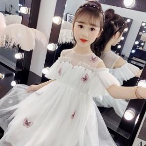 子供 ドレス ワンピース 膝丈 キッズドレス ピアノ 発表会 女の子 ドレス 結婚式 ドレス フォーマル 子供服 ワンピ 可愛い レース 半袖