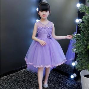 4色 子供 ドレス ワンピース ミニ 膝丈 フィッシュテール おしゃれ プリンセス キッズドレス ピアノ 発表会 女の子 ドレス かわいい 結婚