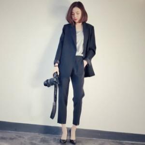 パンツスーツ レディース フォーマル パーティードレス パンツ 黒 20代 30代 40代 50代 かっこいい シンプル 長袖 大きいサイズ xl 結婚