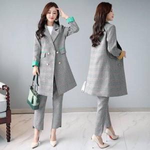 人気 かっこいいパンツドレス チェスターコート チェック セットアップ ジャケット パンツスーツ アウター 大きいサイズ 10代 20代 秋 春