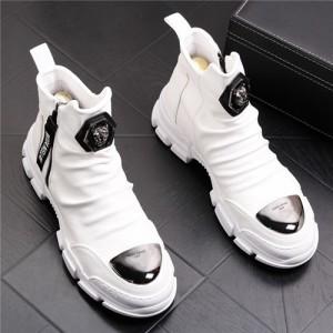 スニーカー メンズ ハイカット 紳士靴 激安 おしゃれアウトレット紳士靴 マーティンブーツ カジュアルシューズ 金具バスケットボールシュ