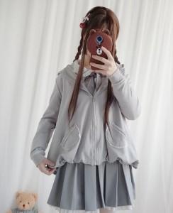 78a99913a9c5f5 プリーツスカート cosplay lolita 學園風 長袖 ジャケ 制服 ワンピース ロリータ コスプレ 森ガール セーラー服