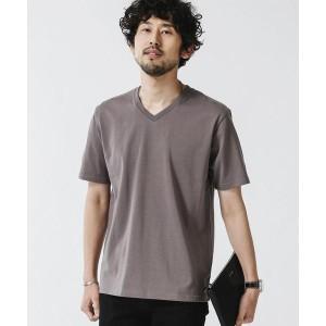 ナノ・ユニバース/《WEB限定》超長綿オーガニックコットンVネックTシャツ/半袖