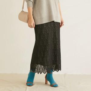 【NEW】ドゥ アルシーヴ/チュール刺繍レースロングスカート