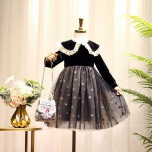 子供 ワンピース 長袖 女の子 発表会 ピアノ 女の子 日常服 ドレス 入学式 子供 ドレス 女の子 子供服 韓国風 ジュニア キッズ