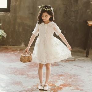 子供服 ワンピース 半袖 春夏 女の子 キッズワンピース 膝丈ワンピース チュニック 子供ドレス 結婚式 お姫様 ジュニア おしゃれ 可愛い