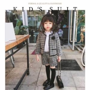 2点セット パンツスーツ 女の子 入学式 卒業式 かっこいい 韓国 子供服 女の子 セットアップ キッズ 発表会 スーツ パンツ トップス