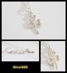 4つ葉のクローバー(6)CZ/シルバー925・銀幸福・花送料無料