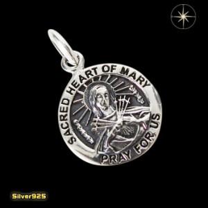 マリアコイン(7)/【メイン】シルバー925銀ペンダントネックレス聖母マリアメダイ