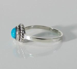 ターコイズリング(7)03号〜25号/メインシルバー925銀天然石指輪シンプル