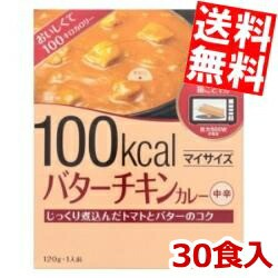 【送料無料:ケース販売】大塚食品 マイサイズ バターチキンカレー 120g×30食 [カレー 100kcal ダイエット食品]