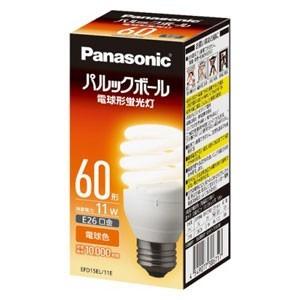 パナソニック 電球形蛍光ランプ D60形・電球色 Panasonic パルックボール EFD15EL ( 4549077386717 )