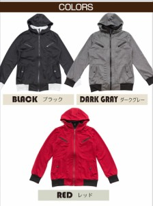 BUZZ WEAR Wジップライダースジャケット メンズ 秋冬春用 黒/赤/グレー M-XL