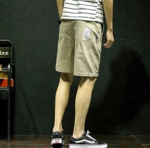 3000円以上送料無料 ハーフパンツ メンズ ボトムス パンツ ハーパン 半パン 膝上 ショートパンツ ベイカーパンツ ベーカー ワンポイント