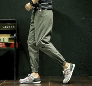 ボトムス メンズ パンツ ロングパンツ ジョガー ワッペン 腰紐 無地 ワンポイント シンプル カジュアル 3000円以上送料無料