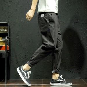 3000円以上送料無料 ボトムス メンズ パンツ ロングパンツ ワンポイント 腰紐 シンプル 無地 オーソドックス カジュアル メンズファッシ