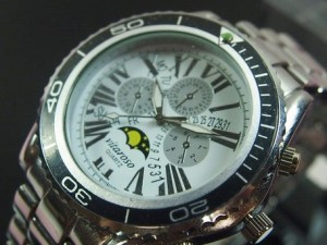 腕時計 メンズ 小物 VITAROSO メタルウォッチ 日本製ムーブメント クロノ ムーンフェイス メンズ腕時計 3000円以上送料無料